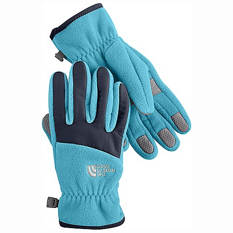 On Sale. The North Face Girls' Denali Glove DECENT FEATURES of The North Face Girls' Denali Glove Youth-specific 5 Dimensional Fit ensures consistent sizing Radiametric Articulation keeps hands in their natural relaxed position Nylon Taslan over knuckles and fingers for added durability Synthetic gripper palm for added grip Elastic wrists seal out the cold The SPECS Shell: TKA 300 fleece Palm: Polyurethane (PU) gripper This product can only be shipped within the United States. Please don't hate us. - $15.99