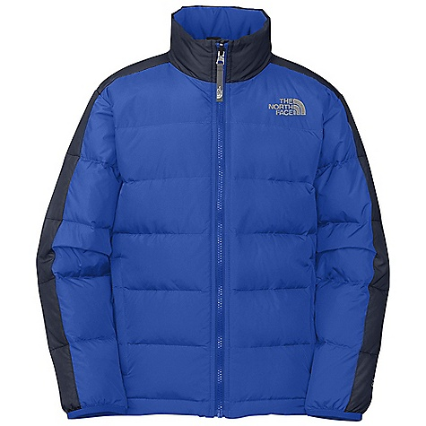 On Sale. Free Shipping. The North Face Boys' Aconcagua Jacket DECENT FEATURES of The North Face Boys' Aconcagua Jacket Sewn-through construction Zip-in and snap-in compatible Brushed collar lining Zip hand pockets Interior stormflap at center front zip closure ID label Embroidered logo at left chest and back right shoulder The SPECS Average Weight: 14.7 oz / 418 g Center Back Length: 22.5in. Body: 40D 56 g/m2 100% nylon taffeta with DWR Lining: 100% polyester taffeta Insulation: 550 fill down This product can only be shipped within the United States. Please don't hate us. - $68.99