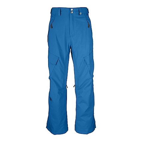 On Sale. Free Shipping. The North Face Men's Slasher Cargo Pant DECENT FEATURES of The North Face Men's Slasher Cargo Pant Park fit Waterproof, breathable, fully seam sealed Adjustable waist tabs Belt loops with clip-in integration Zip hand pockets Flap cargo pockets with the Lot Lift System Flap back pockets Zip inner-thigh vents with mesh gussets Gaiter with gripper elastic and boot hook Outseam snap-cuff gussets Internal reinforced edge guards The SPECS Average Weight: 21.52 oz / 610 g Inseam: short: 29in., regular: 31in., long: 33in. Shell: 70D 160 g/m2 HyVent 2L-100% nylon peached Taslan; 165 g/m2 HyVent 2L-100% polyester faille Woodland Camo Print Lining: Taffeta, brushed tricot, mesh This product can only be shipped within the United States. Please don't hate us. - $88.99