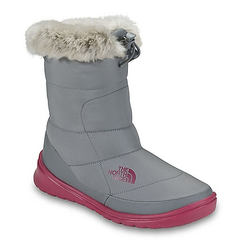 Skateboard On Sale. Free Shipping. The North Face Women's Nuptse Bootie Fur IV Boot DECENT FEATURES of The North Face Women's Nuptse Bootie Fur IV Boot Upper: Durable, water-resistant, element-shedding textile upper 600 fill power down insulation Plush faux fur collar Internal, ankle-securing elastic Comfortable eco OrthoLite foot bed Bottom: Cushioned, abrasion-resistant, injection-molded EVA midsole/outsole Ice Pick temperature-sensitive rubber pods for increased traction The SPECS Last: L\TNF-F11-07 Approx Weight: 1/2 pair: 6.6 oz / 185 g, pair: 13 oz / 370 g Shaft Height: 7.5in. / 19 cm Circumference: 13.5in. / 34 cm This product can only be shipped within the United States. Please don't hate us. - $62.99