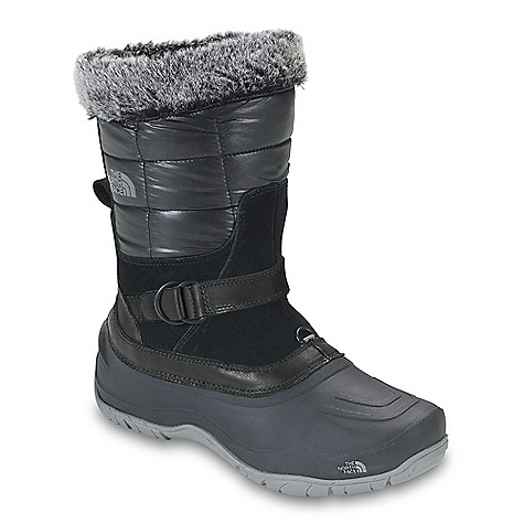 On Sale. Free Shipping. The North Face Women's Shellista Pull-On Boot DECENT FEATURES of The North Face Women's Shellista Pull-On Boot Upper: Durable, water-resistant, 100% recycled P.E.T. ripstop shaft detail Waterproof, BLC-compliant full-grain and suede leather upper trims Cemented and seam-sealed waterproof construction 200 g PrimaLoft Eco insulation Fauxfur collar detail Dual-density internal midsole with three-quarter-length nylon shank Durable TNF Winter Grip rubber outsole base with IcePick temperature-sensitive lugs for superior winter traction The SPECS Last: L\TNF-025 Approx Weight: 1/2 pair: 1 lb 3 oz / 542 g, pair: 2 lbs 6 oz / 1084 g This product can only be shipped within the United States. Please don't hate us. - $83.99