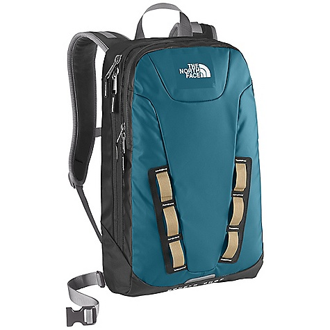 Camp and Hike On Sale. Free Shipping. The North Face Base Camp Double Shot Backpack DECENT FEATURES of The North Face Base Camp Double Shot Backpack Flex Vent injection-molded shoulder straps Comfortable, padded Chemise back panel with Spine Channel and PE sheet for extra back support Front Velcro stash pocket Main compartment with padded laptop sleeve and mesh zippered pocket Secondary compartment with organization Durable, water-resistant zippers Back Saver bottom panel Large main compartment with padded laptop sleeve and hydration clip/port Women-specific fit Compatible with most 13in. laptops Safety whistle located on chest buckle Imported The SPECS Average Weight: 2 lbs 5 oz / 1048 g Volume: 1098 cubic inches / 18 liter Dimension: 12.5 x 18 x 5in. / 32 x 46 x 13 cm 300D phthalate-free TPE laminate, 840D ballistics nylon This product can only be shipped within the United States. Please don't hate us. - $68.99