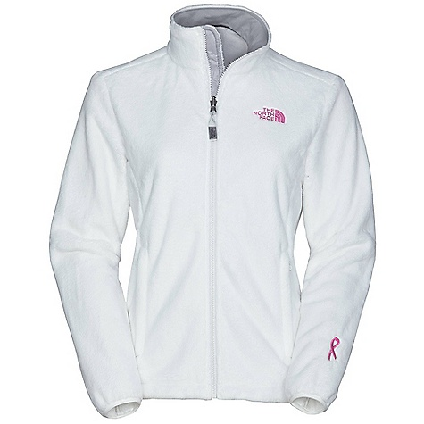 Free Shipping. The North Face Women's Pink Ribbon Osito Jacket DECENT FEATURES of The North Face Women's Pink Ribbon Osito Jacket Zip-in-compatible integration with complementing garments from The North Face Brushed collar lining Two secure-zip hand pockets Concealable cuff snap-in Triclimate attachment Elastic-bound cuffs Hem cinch-cord The SPECS Average Weight: 19 oz / 540 g Center Back Length: 25.5in. Silken fleece This product can only be shipped within the United States. Please don't hate us. - $98.95