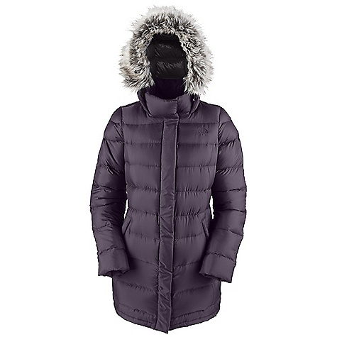 On Sale. Free Shipping. The North Face Women's Yume Parka DECENT FEATURES of The North Face Women's Yume Parka Empire waist Fixed, adjustable insulated drop hood Horizontal quilting throughout body Center front zip and snap-down closure Welted hand pockets Internal security pocket Removable faux fur trim Embroidered logo on left chest and back right shoulder The SPECS Average Weight: 33.8 oz / 960 g Center Back Length: 33.5in. Body: 40D 65 g/m2 100% nylon striped dobby with DWR (bluesign approved fabric) Insulation: 600 fill down This product can only be shipped within the United States. Please don't hate us. - $223.99