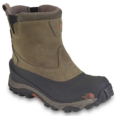 On Sale. Free Shipping. The North Face Men's Arctic Pull-On II Boot DECENT FEATURES of The North Face Men's Arctic Pull-On II Boot Upper: 2.0-2.2 mm waterproof, BLC-compliant nubuck leather upper Waterproof construction for the ultimate weather protection 200 g PrimaLoft Eco insulation Anatomically engineered, injection-molded waterproof TPR shell with forefoot flex grooves GORE elastic side panels Dri-Lex fleece lining in the collar Bottom: Northotic+ dual-density footbed with softer heel and forefoot-cushioning pads Compression-molded EVA midsole Durable TNF Winter Grip rubber outsole IcePick temperature-sensitive outsole lugs for increased traction The SPECS Last: TNF-SB-01 Approx Weight: 1/2 pair: 1 lb 11 oz / 779 g, pair: 2 lbs 6 oz / 1558 g This product can only be shipped within the United States. Please don't hate us. - $89.99