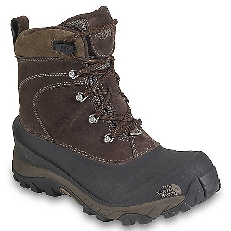 Free Shipping. The North Face Men's Chilkat II Boot FEATURES of The North Face Men's Chilkat II Boot Upper: Waterproof leather upper Waterproof construction for the ultimate weather protection 200 g Heatseeker insulation Wicking fleece collar and tongue lining Anatomically engineered, injection-molded, waterproof TPR shell with forefoot grooves Rustproof hardware Gaiter-compatible D-ring Bottom: Compression-molded EVA midsole Durable TNF Winter Grip rubber outsole - $109.95