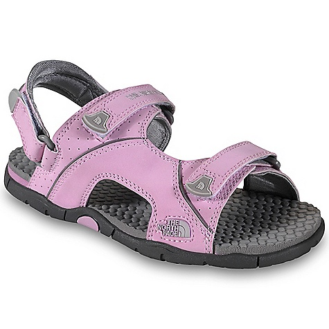 Entertainment On Sale. The North Face Girls' El Rio Sandal DECENT FEATURES of The North Face Girls' El Rio Sandal Upper: Water-resistant synthetic nubuck upper Recessed hook-and-loop enclosure system Removable heel strap easily converts to a slide Bottom: Die-cut EVA mid-sole Nylon midfoot shank for underfoot support EVA mid-sole with HydroTrak water-channeling, sticky rubber outsole Low-profile, high-surface-contact UltrATAC non-marking rubber outsole The SPECS Last: TNF-S1 Approx Weight: 1/2 pair: 5.4 oz / 155 g, pair: 10.8 oz / 310 g Source: Imported This product can only be shipped within the United States. Please don't hate us. - $22.99