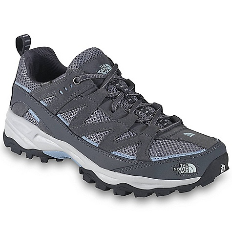 Camp and Hike On Sale. Free Shipping. The North Face Women's Tyndall Waterproof Shoe DECENT FEATURES of The North Face Women's Tyndall Waterproof Shoe Upper: Combination PU-coated and suede leather upper with breathable air mesh Dual-density Northotic foot bed Hydro Seal waterproof membrane Bottom: Injection-molded EVA midsole Midfoot steel shank High-abrasion UltrATAC rubber outsole The SPECS Last: L\TNF-005A Approx Weight: 1/2 pair: 12.5 oz / 354 g, pair: 1 lb 9 oz / 708 g This product can only be shipped within the United States. Please don't hate us. - $62.99