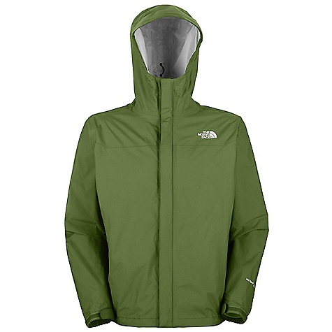 Free Shipping. The North Face Men's Venture Jacket DECENT FEATURES of The North Face Men's Venture Jacket Waterproof, breathable, seam sealed Attached fully adjustable hood with hidden drawcord system Center front zip and Velcro closure Brushed chin guard lining Pit-zips Two secure-zip hand pockets Stowable in hand pocket Self fabric adjustable Velcro cuff tabs Hem cinch-cord The SPECS Average Weight: 14 oz / 400 g Center Back Length: 28in. 40D 85 g/m2 (2.5 oz/yd2) HyVent 2.5L EC-100% nylon ripstop (50% non-petroleum membrane) This product can only be shipped within the United States. Please don't hate us. - $98.95