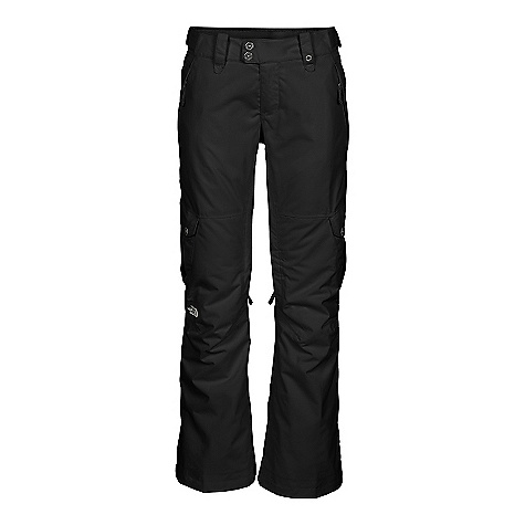 On Sale. Free Shipping. The North Face Women's Go-Go Cargo Pant DECENT FEATURES of The North Face Women's Go-Go Cargo Pant Waterproof, breathable, fully seam sealed Adjustable waist tabs Hand warmer zip pockets Inner thigh vents with mesh gussets Two cargo pockets Back pockets Articulated knees Stretch Vent gaiter with gripper elastic Reinforced cuffs Chimney Venting system Snap gusset hem Pant-a-lock compatible Buddy lift clip The SPECS Fit: LRBC Inseam: regular Fabric: Shell: 2L HyVent yarn-dye twill, blue sign approved, Lining: Center back panel satin quilted and balance is lace embossed taffeta, Insulation: Heat seeker Eco 100 g (body) /80 g (hood and sleeves) This product can only be shipped within the United States. Please don't hate us. - $106.99
