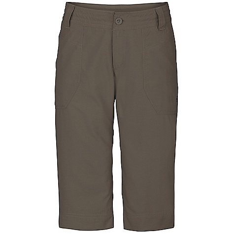 On Sale. Free Shipping. The North Face Women's Horizon Noble Capri DECENT FEATURES of The North Face Women's Horizon Noble Capri Lightweight, pack able, abrasion-resistant nylon rip stop Ultraviolet protection factor (UPF) 50 Quick-drying performance Draw cord at waist Hand pockets Articulation at knees The SPECS Average Weight: 6.7 oz / 190 g Inseam: 15.5in. 113 g/m2 100% nylon ripstop (blue sign approved fabric) This product can only be shipped within the United States. Please don't hate us. - $15.99