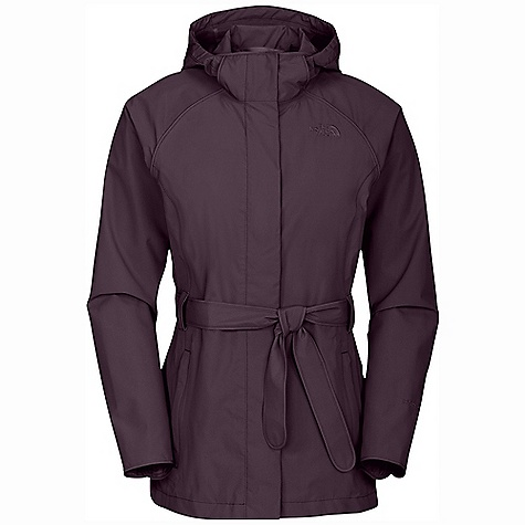 On Sale. Free Shipping. The North Face Women's K Jacket DECENT FEATURES of The North Face Women's K Jacket Waterproof, breathable, fully seam sealed Removable hood with adjustable drawcord Snap-down placket at center front Zippered Napoleon pocket with media egress Two-way center front zip Welted zip hand pockets on princess seams Snap cuffs Zippered hand pockets Removable tie belt with security tab Adjustable drawcord system at removable hood Internal security pocket Brushed tricot chin guard Embroidered logo at left chest and back right shoulder The SPECS Average Weight: 20 oz / 570 g Center Back Length: 28.5in. 75D 110 g/m2 HyVent 2L-100% polyester plain weave Lining: 70D 63 g/m2 100% nylon taffeta This product can only be shipped within the United States. Please don't hate us. - $119.99