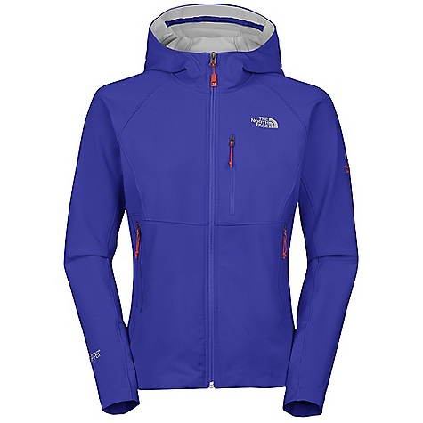 On Sale. Free Shipping. The North Face Women's Alpine Project WS Soft Shell Jacket DECENT FEATURES of The North Face Women's Alpine Project WS Soft Shell Jacket Alpine fit Gore Wind stopper X-Fast fabric wind permeability rated 0 CFM on body Attached adjustable hood Invisible zipped Napoleon chest pocket Two hand pockets Hidden hem cinch-cord at center front zip Imported The SPECS Average Weight: 12.1 oz / 410 g Center Back Length: 24.5in. 233 g/m2 (6.87 oz/yd2) 49% polyester, 43% nylon, 8% elastane Gore Windstopper 3L X-Fast with four-way stretch This product can only be shipped within the United States. Please don't hate us. - $161.99