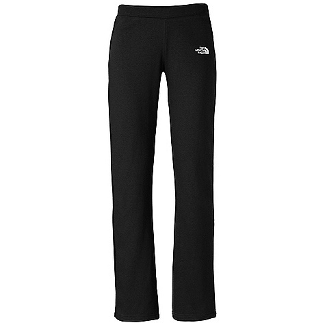 The North Face Women's Half Dome Pant DECENT FEATURES of The North Face Women's Half Dome Pant Soft, comfortable, easy-care fabric Contrast color embroidered logo at left hip Encased elastic waistband with contrast color draw cord Internal drawstrings at waistband Bootcut fit Imported The SPECS Average Weight: 12.8 oz / 362 g Inseam: 33in. 280 g/m2 80% cotton 20% polyester fleece This product can only be shipped within the United States. Please don't hate us. - $44.95