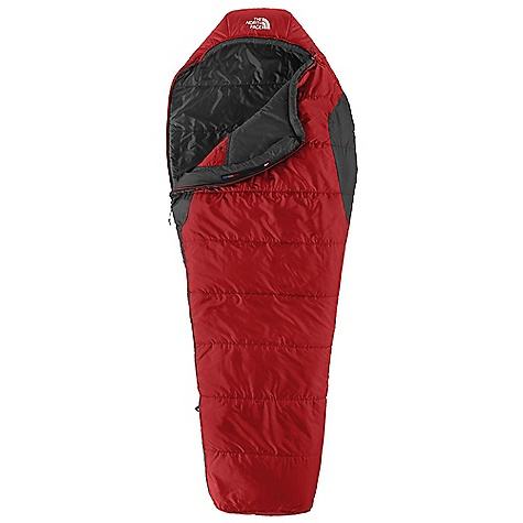 Camp and Hike Free Shipping. The North Face Aleutian 1S 55 Degree Sleeping Bag DECENT FEATURES of The North Face Aleutian 1S 55 Degree Sleeping Bag Heat seeker synthetic insulation Soft ripstop polyester shell Internal watch pocket Screen-printed stuffsack Tested to EN 13537 The SPECS Temperature Rating: 55deg F / 13deg C Comfort: 58deg F / 14deg C Limit: 51deg F / 11deg C Extreme: 32deg F / 0deg C Fill: Heat seeker Shape: Mummy Stuffed Size: 7 x 10in. / 18 x 25 cm The SPECS for Regular Total Weight: 1 lb 8 oz / 670 g Fill Weight: 7 oz / 190 g Compressed Size: 334 cubic inches / 5.5 liter The SPECS for Long Total Weight: 1 lb 10 oz / 740 g Fill Weight: 7 oz / 210 g Compressed Size: 385 cubic inches / 6.3 liter This product can only be shipped within the United States. Please don't hate us. - $68.95