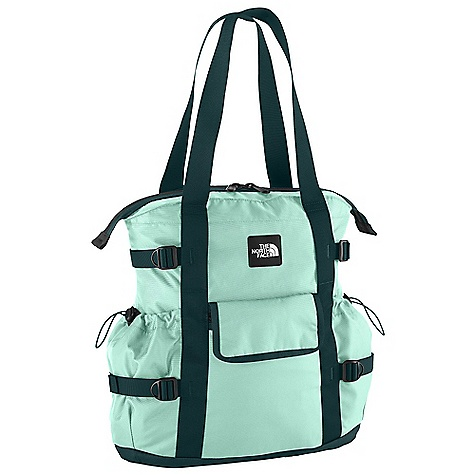 Entertainment On Sale. Free Shipping. The North Face Women's Midtown Tote DECENT FEATURES of The North Face Women's Midtown Tote Large main compartment with padded laptop sleeve and two slip-in pockets Front tricot-lined zippered stash pocket with magnetic flap closure Side cinch closure water bottle pockets Specific fit Compatible with most 15in. laptops Imported The SPECS Avg Weight: 1 lb 7 oz / 648 g Volume: 1404 cubic inches / 23 liter 630D ballistics nylon, 1200D polyester, 600D polyester print This product can only be shipped within the United States. Please don't hate us. - $49.99
