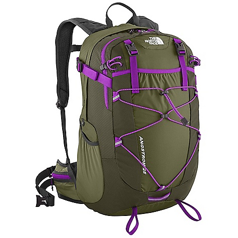 Camp and Hike On Sale. Free Shipping. The North Face Angstrom 25 Pack DECENT FEATURES of The North Face Angstrom 25 Pack Dual-density Airmesh shoulder harness Stowable Airmesh hipbelt with three-point closure and gear loop Huge front stretch drop pocket Hydration compatible with padded universal sleeve Zippered rain cover pocket with rain cover included Large, stretch woven side water bottle pockets Sliding sternum strap with Safe-T whistle The SPECS Average Weight: 1 lb 11.8 oz / 794 g Volume: 1678 cubic inches / 27.5 liter 210D HT ripstop Cordura nylon, 70D ultralight 210T ripstop nylon This product can only be shipped within the United States. Please don't hate us. - $86.99