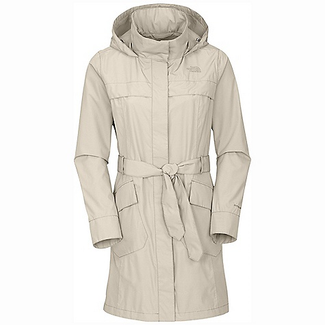 On Sale. Free Shipping. The North Face Women's Stella Grace Jacket DECENT FEATURES of The North Face Women's Stella Grace Jacket Waterproof, breathable, fully seam sealed Adjustable drawcord at removable, stowable hood Two-way center front zip closure Hand pockets with flap closure Removable belt Cape gusset and chest flange Stowable hood with adjustable drawcord Center front zip with single-flap closure Hidden Napoleon zip media pocket with cord guide Removable belt with security tab Patch-on double-entry compartment zip hand pockets Embroidered logo at left chest and back right shoulder The SPECS Average Weight: 22 oz / 630 g Center Back Length: 35in. 75D 110 g/m2 HyVent 2L-100% polyester plain weave Lining: 70D 63 g/m2 100% nylon taffeta This product can only be shipped within the United States. Please don't hate us. - $167.99