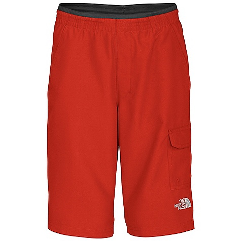 On Sale. The North Face Boys' Class V Cargo Water Short DECENT FEATURES of The North Face Boys' Class V Cargo Water Short Durable, quick-dry fabric Ultraviolet protection factor (UPF) 50 Elastic inside waistband Internal drawstring Embroidered logo in contrast color at left leg opening Mesh side hand pockets Side cargo pocket The SPECS Body: Class V fabric-100% polyester with WR finish Lining: 100% polyester mesh This product can only be shipped within the United States. Please don't hate us. - $14.99