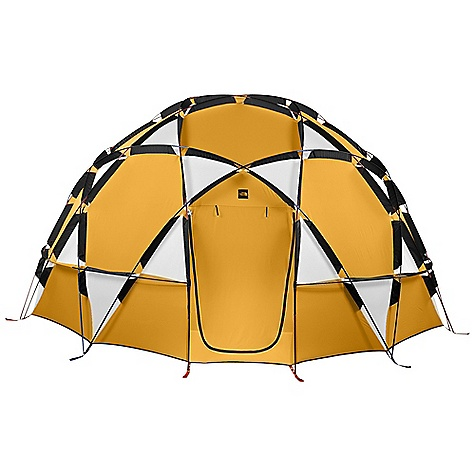 Camp and Hike Free Shipping. The North Face 2-Meter Dome - 8 Person Tent DECENT FEATURES of The North Face 2-Meter Dome - 8 Person Tent Hemispherical shape demonstrates the original geodesic dome principle developed by Buckminster Fuller Easton 7075-T9 aluminum poles Pole configuration creates steep walls and maximum user space Two exterior windows and a chimney vent Interior canopy hang loops Dual doors The SPECS Capacity: 8 Person Total Weight: 51 lbs / 23.13 kg Trial Weight: 47 lbs / 21.31 kg Floor Area: 125 square feet / 11.6 square meter Peak Height: 83in. Stuff Sack Size: 32 x 23in. / 81 x 58 cm # of Poles: 12 Pole Diameter: 11 mm Doors: 3 Fly: Heavy duty nylon oxford, 1500 mm PU coating Canopy: Heavy duty nylon oxford, 1500 mm PU coating Floor: Heavy duty nylon taffeta, 10000 mm PU coating OVERSIZE ITEM: We cannot ship this product by any expedited shipping method (3-Day, 2-Day or Next Day). Even if you pick that option, it will still go Ground Shipping. Sorry for being so mean. This product can only be shipped within the United States. Please don't hate us. - $4,999.95