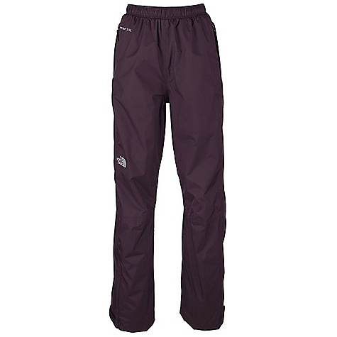 Free Shipping. The North Face Women's Venture Pant DECENT FEATURES of The North Face Women's Venture Pant Waterproof, breathable, seam sealed Elastic waist with drawstring Two hand pockets Pant stows in hand pocket Relaxed fit Imported The SPECS Average Weight: 9.5 oz / 270 g Inseam: short, regular: 31.5in., large 40D 91.5 g/m2 (2.7oz/yd2) nylon ripstop HyVent DT 2.5L (50% non-petroleum membrane) This product can only be shipped within the United States. Please don't hate us. - $79.95