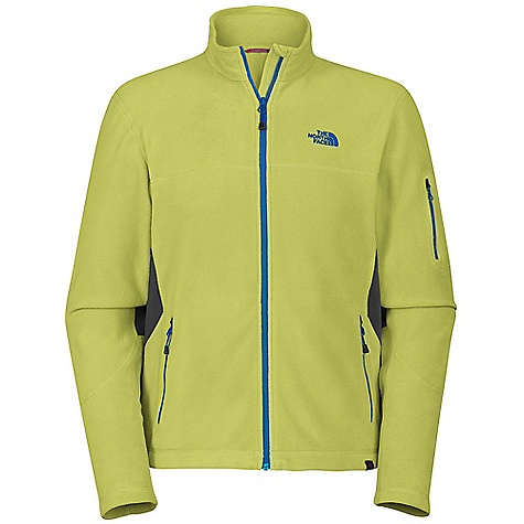 On Sale. Free Shipping. The North Face Men's 100 Aurora Jacket DECENT FEATURES of The North Face Men's 100 Aurora Jacket Unique microfibers provide an unparalleled soft hand Ultraviolet protection factor (UPF) 30 Provides 10% more warmth and is 50% more thermally efficient than old TKA 100, at 27% less weight 24% more breathable and 18% more compressible, allowing 23 in3 (0.23 liters) of pack-space savings Stretch panels at side through underarm for increased mobility Bicep pocket Underarm gusset Lower hand pockets Pop color zips and chest logos on select colors THE SPECS Source: Imported Average Weight: 10.4 oz / 295 g Body: 155 g/m2 Polartec Classic Micro-100% polyester (blue sign approved fabric) Stretch Panels: 227 g/m2 94% polyester, 6% elastane This product can only be shipped within the United States. Please don't hate us. - $57.99