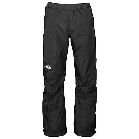 Free Shipping. The North Face Men's Venture Side Zip Pant DECENT FEATURES of The North Face Men's Venture Side Zip Pant Standard fit Waterproof, breathable, seam sealed Elastic waist with drawstring Two hand pockets Pant stows in pocket Full-length, two-way side zips Relaxed fit The SPECS Average Weight: 14 oz / 390 g Inseam: regular 40D 85 g/m2 (2.5 oz/yd2) 100% nylon ripstop HyVent 2.5L EC (50% non-petroleum membrane) This product can only be shipped within the United States. Please don't hate us. - $98.95
