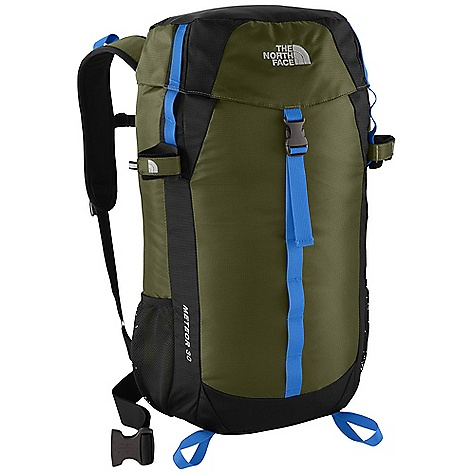 Camp and Hike On Sale. Free Shipping. The North Face Meteor 30 Pack DECENT FEATURES of The North Face Meteor 30 Pack Vertical mesh channel on back panel provides cooling comfort Easy-access top loader Rain cover included FlexVent injection-molded shoulder straps Hydration sleeve and port Mesh side water bottle pockets and trekking pole attachments Imported The SPECS Average Weight: 1 lb 14 oz / 850 g Volume: 1831 cubic inches / 30 liter Dimension: 20.1 x 12.6 x 8.3in. / 51 x 32 x 21 cm Suspension: FlexVent Access: Top H20 Compatible: Yes 420D mini-ripstop nylon 420D dobby nylon This product can only be shipped within the United States. Please don't hate us. - $73.99
