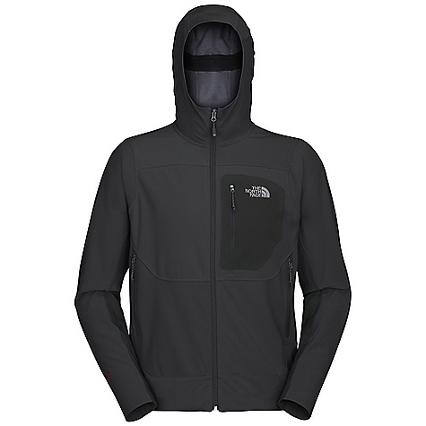 On Sale. Free Shipping. The North Face Men's Alpine Project WS Soft Shell Jacket DECENT FEATURES of The North Face Men's Alpine Project WS Soft Shell Jacket Alpine fit Gore Wind stopper Soft Shell fabric wind permeability rated 0 CFM on body (0 CFM is 100% windproof) Attached adjustable hood TNF Apex Aerobic Napoleon patch on chest pocket Two hand pockets Hidden hem cinch-cord at center front zip Imported The SPECS Average Weight: 12.3 oz / 420 g Center Back Length: 28in. 202 g/m2 (5.95 oz/yd2) 55% nylon, 35% polyester, 10% elastane Gore Windstopper X-Fast with four-way stretch This product can only be shipped within the United States. Please don't hate us. - $148.99