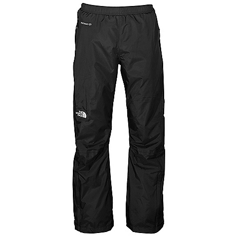 Free Shipping. The North Face Men's Venture Pant DECENT FEATURES of The North Face Men's Venture Pant Waterproof, breathable, seam sealed Elastic waist with drawstring Two secure-zip hand pockets Pant stows in pocket The SPECS Average Weight: 8.47 oz / 240 g Inseam: short: 29in., regular: 31in., long: 33in. 40D 85 g/m2 (2.5 oz/yd2) 100% nylon ripstop HyVent 2.5L EC (50% non-petroleum membrane) This product can only be shipped within the United States. Please don't hate us. - $79.95