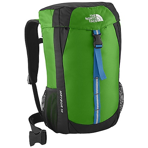 Camp and Hike On Sale. Free Shipping. The North Face Youth Meteor 16 Pack DECENT FEATURES of The North Face Youth Meteor 16 Pack Vertical mesh channel on back panel provides cooling comfort Easy-access top loader Rain cover included Hydration sleeve and port Mesh side water bottle pockets Reflective webbing for safety Imported The SPECS Average Weight: 1 lb 5 oz / 595 g Volume: 1037 cubic inches / 17 liter Dimension: 15.6 x 11 x 7.5in. / 40 x 28 x 19 cm Access: Top H20 Compatible: Yes 420D mini-ripstop nylon 420D dobby nylon This product can only be shipped within the United States. Please don't hate us. - $62.99