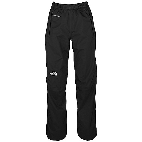 Free Shipping. The North Face Women's Venture Side Zip DECENT FEATURES of The North Face Women's Venture Side Zip Waterproof, breathable, seam sealed Elastic waist with drawstring Two secure zip hand pockets Pant stows in hand pocket Side zips Imported The SPECS Average Weight: 13.4 oz / 380 g Inseam: short, regular, long 40D 85 g/m2 (2.5 oz/yd2) 100% nylon ripstop HyVent 2.5L EC (50% non-petroleum membrane) This product can only be shipped within the United States. Please don't hate us. - $98.95