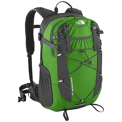 Free Shipping. The North Face Angstrom 30 Pack DECENT FEATURES of The North Face Angstrom 30 Pack Dual-density Air mesh shoulder harness Stowable Air mesh hipbelt with three point closure and ear loop Huge front stretch drop pocket Hydration compatible with padded universal sleeve Zippered rain cover pocket with rain cover included Large, stretch woven side water bottle pockets Sliding sternum strap with Safe-T whistle Imported The SPECS Average Weight: 1 lb 14 oz / 850 g Volume: 2014 cubic inches / 33 liter Dimension: 21 x 13 x 9in. / 53 x 33 x 22 cm Suspension: E-VAP Access: Panel H20 Conpatible: Yes 210D HT ripstop Cordura nylon, 70D ultralight 210T ripstop nylon This product can only be shipped within the United States. Please don't hate us. - $108.95