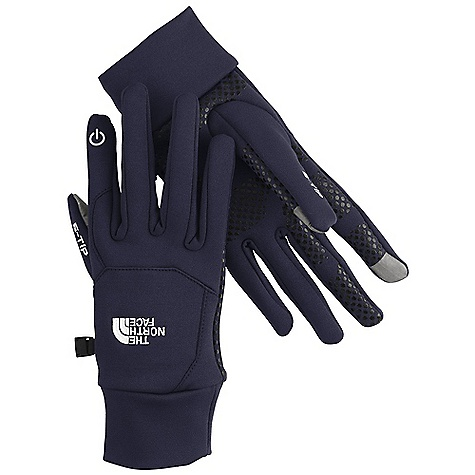 The North Face Etip Glove DECENT FEATURES of The North Face Etip Glove Etip functionality works with a touch-screen device 5 Dimensional Fit ensures consistent sizing Radiametric Articulation keeps hands in their natural relaxed position Four-way-stretch fleece Silicone gripper palm pattern provides superior grip The SPECS Stretch knit This product can only be shipped within the United States. Please don't hate us. - $44.95