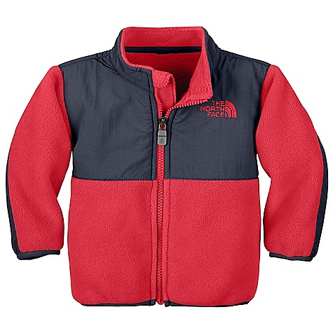 On Sale. Free Shipping. The North Face Infant Denali Jacket DECENT FEATURES of The North Face Infant Denali Jacket Abrasion-reinforced shoulders, chest and elbows Zippered hand pockets Zip-in and snap-in compatible Elastic-bound cuffs Encased elastic at hem Taffeta sleeve lining for easy arm entry ID label Embroidered logo at left chest and back right shoulder Imported The SPECS Average Weight: 4.8 oz / 136 g Center Back Length: 13.5in. Body: 330 g/m2 Recycled Polar Tec 300 Series polyester fleece with DWR finish (blue sign approved fabric) Abrasion: 160D 118 g/m2 100% nylon Taslan with DWR finish (blue sign approved fabric) This product can only be shipped within the United States. Please don't hate us. - $39.99