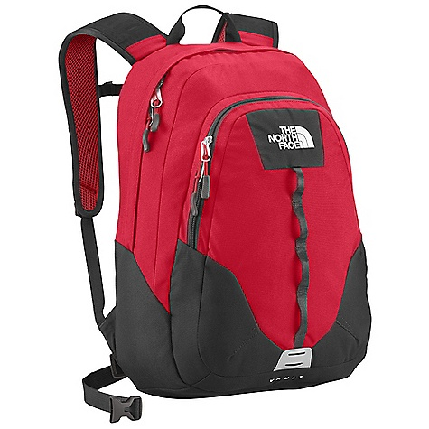 On Sale. Free Shipping. The North Face Vault DECENT FEATURES of The North Face Vault FlexVent injection-molded shoulder straps Comfortable, stitched foam back panel Large main compartment fits books and binders Secondary compartment with organization Removable sternum strap Women-specific version of this daypack The SPECS Average Weight: 1 lb 10 oz / 730 g Volume: 1587 cubic inches / 26 liter Dimension: 19 x 13 x 8in. / 48 x 33 x 20 cm 600D polyester, 1200D polyester This product can only be shipped within the United States. Please don't hate us. - $34.99