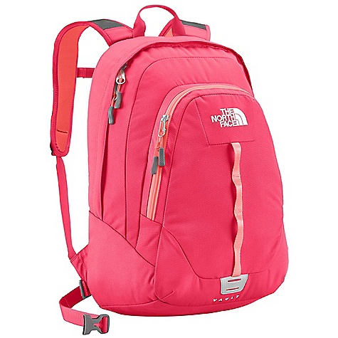 Free Shipping. The North Face Women's Vault DECENT FEATURES of The North Face Women's Vault Women-specific, FlexVent injection-molded shoulder straps Comfortable, stitched foam back panel Removable hipbelt Large main compartment fits books and binders Secondary compartment with organization Removable sternum strap The SPECS Average Weight: 1 lb 9 oz / 718 g Volume: 1587 cubic inches / 26 liter Dimension: 19 x 13 x 8in. / 48 x 33 x 20 cm 600D polyester, 1200D polyester This product can only be shipped within the United States. Please don't hate us. - $54.95