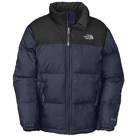 On Sale. Free Shipping. The North Face Boys' Nuptse Jacket DECENT FEATURES of The North Face Boys' Nuptse Jacket Sewn-through construction Zip hand warmer pockets Interior storm flap at center front zip Zip-in and snap-in compatible Adjustable cuff tabs with Velcro closure ID label Embroidered logo at left chest Imported The SPECS Average Weight: 16.58 oz / 470 g Center Back Length: 22.5in. Body: 50D 71 g/m2 100% polyester with DWR Lining: 50D 76 g/m2 100% recycled polyester taffeta with WR Insulation: 550 fill down This product can only be shipped within the United States. Please don't hate us. - $90.99