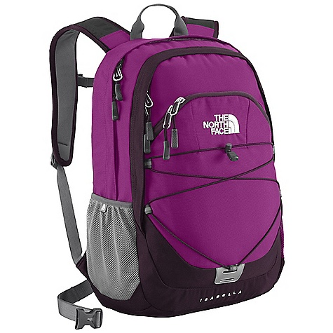 On Sale. Free Shipping. The North Face Women's Isabella DECENT FEATURES of The North Face Women's Isabella Women-specific, FlexVent injection-molded shoulder straps Comfortable, stitched foam back panel Removable hipbelt Large main compartment with universal sleeve, mesh zippered pocket and two slip-in pockets Secondary compartment with organization Small stash pocket on pack front Mesh side water bottle pockets Removable sternum strap The SPECS Average Weight: 1 lb 13 oz / 828 g Volume: 1342 cubic inches / 22 liter Dimension: 12.5 x 17.5 x 8in. / 31.5 x 44 x 20 cm 600D polyester, 1200D polyester This product can only be shipped within the United States. Please don't hate us. - $54.99