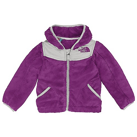 Free Shipping. The North Face Infant Oso Hoodie DECENT FEATURES of The North Face Infant Oso Hoodie Super soft and cozy high-pile fleece body Fixed hood Elastic binding at cuffs, hand pockets and hood Encased elastic at hem Taffeta sleeve lining for ease of arm entry Embroidered logo at left chest The SPECS Average Weight: 8 oz / 220 g Center Back Length: 12.25in. Body: 315 g/m2 100% polyester high-pile fleece Body and Hood Overlay: 30D 50 g/m2 100% polyester taffeta with DWR This product can only be shipped within the United States. Please don't hate us. - $64.95