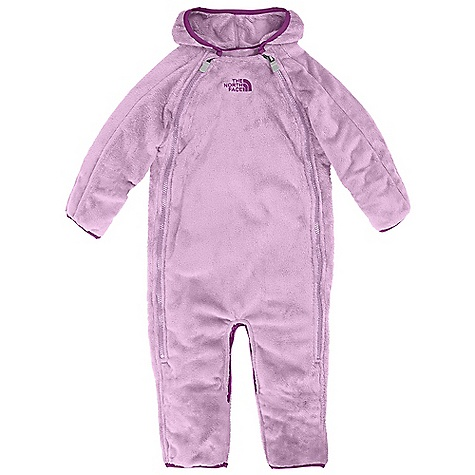 On Sale. Free Shipping. The North Face Infant Buttery Fleece Bunting DECENT FEATURES of The North Face Infant Buttery Fleece Bunting Double full-zip closure Fold-over cuffs and booties Taffeta sleeve lining for ease of arm entry ID label Embroidered logo at chest The SPECS Average Weight: 11.3 oz / 320 g Center Back Length: 27in. Inseam: 10in. 245 g/m2 100% polyester moleskin fleece This product can only be shipped within the United States. Please don't hate us. - $51.99