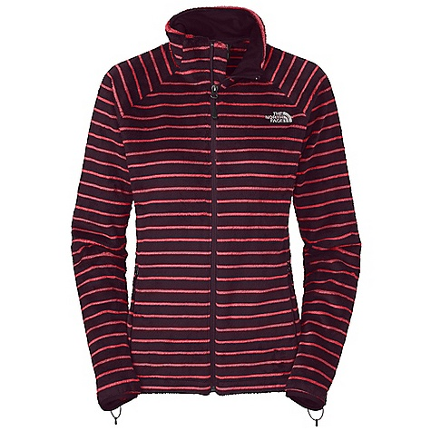 On Sale. Free Shipping. The North Face Women's Novelty Osito Jacket DECENT FEATURES of The North Face Women's Novelty Osito Jacket Striped Silken fleece Two secure zip hand pockets Hem cinch-cord Zip-in compatible integration with complementing garments from The North Face Elastic bound cuffs Imported The SPECS Average Weight: 18.7 oz / 530 g Center Back Length: 25.5in. 310 g/m2 (8.99 oz/yd2) 100% polyester Silken fleece stripe This product can only be shipped within the United States. Please don't hate us. - $83.99