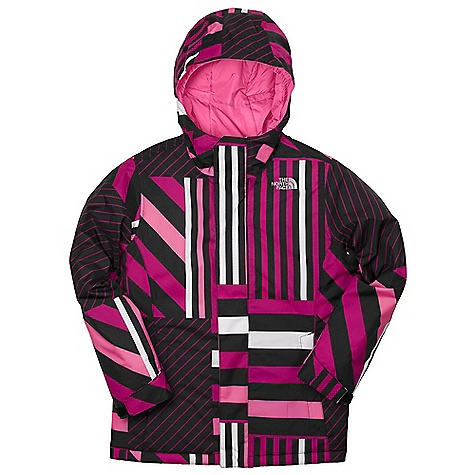 On Sale. Free Shipping. The North Face Girls' Insulated Denay Jacket DECENT FEATURES of The North Face Girls' Insulated Denay Jacket Waterproof, breathable, fully seam sealed Fixed hood Zip hand warmer pockets Internal media pocket Key clip Glove clip Goggle cloth Adjustable draw cord system at hem Adjustable cuff tabs with Velcro closure System map on interior of garment outlines jacket features ID label Embroidered logo at left chest The SPECS Average Weight: 30 oz / 820 g Center Back Length: 23.5in. Body: 75D 105 g/m2 HyVent 2L-100% polyester plain weave Lining: 40D 70 g/m2 100% nylon taffeta Insulation: 250 g (body), 160 g (sleeves) Heat seeker Aero This product can only be shipped within the United States. Please don't hate us. - $97.99
