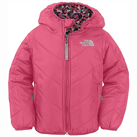 On Sale. Free Shipping. The North Face Toddler Girls' Reversible Perrito Jacket DECENT FEATURES of The North Face Toddler Girls' Reversible Perrito Jacket Quilted through body Reverses to print Elastic binding at cuffs, hem and hood Embroidered logo at left chest and back right shoulder Imported The SPECS Average Weight: 9.52 oz / 270 g Center Back Length: 16in. Body: 50D 100% nylon taffeta with DWR Reverse Body: 50D 100% polyester taffeta with print and DWR Insulation: 160 g Heat seeker Aero This product can only be shipped within the United States. Please don't hate us. - $55.99