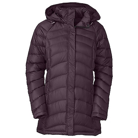 On Sale. Free Shipping. The North Face Women's Transit Jacket DECENT FEATURES of The North Face Women's Transit Jacket Quilting throughout body Adjustable removable hood Brushed chin guard Two-way center front zip with snap placket Internal media pocket with cord guide Hidden zip hand pockets Embroidered logo at left chest and back right shoulder The SPECS Average Weight: 32.8 oz / 930 g Center Back Length: 30in. Body: 50D 70 g/m2 100% polyester with DWR Lining: 50D 76 g/m2 100% recycled polyester taffeta with WR Insulation: 600 fill down This product can only be shipped within the United States. Please don't hate us. - $201.99
