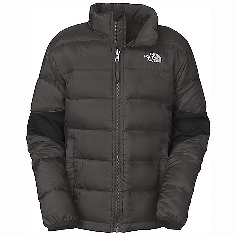 On Sale. Free Shipping. The North Face Boys' Lil' Crympt Jacket DECENT FEATURES of The North Face Boys' Lil' Crympt Jacket Quilted through body Zip-in and snap-in compatible Zip hand pockets ID label Embroidered logo at left chest Imported The SPECS Average Weight: 14.11 oz / 400 g Center Back Length: 22.5in. Body and Sleeve: 20D 42 g/m2 100% polyester rip stop with DWR Side Panels and Elbows: 220 g/m2 97% polyester, 3% elastane jersey faced stretch fleece Lining: 50D 76 g/m2 100% recycled polyester taffeta with WR Insulation: 550 fill down This product can only be shipped within the United States. Please don't hate us. - $70.99