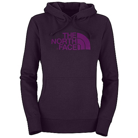 The North Face Women's Half Dome Hoodie DECENT FEATURES of The North Face Women's Half Dome Hoodie Soft, comfortable, easy-care fabric Double-layered hood with drawcord Screen-printed logo at chest Kangaroo hand pocket 1x1 rib at cuffs and hem The SPECS Average Weight: 16 oz / 453 g Center Back Length: 25.25in. 280 g/m2 80% cotton, 20% polyester fleece This product can only be shipped within the United States. Please don't hate us. - $44.95