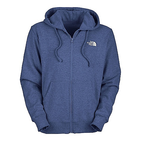 Free Shipping. The North Face Men's Logo Full Zip Hoodie DECENT FEATURES of The North Face Men's Logo Full Zip Hoodie Soft, comfortable, easy-care fabric Double-layered hood with drawcord Embroidered logo at left chest Kangaroo hand pocket 1x1 rib at cuffs and hem The SPECS Average Weight: 28 oz / 793 g Center Back Length: 27.5in. 280 g/m2 80% cotton 20% polyester fleece This product can only be shipped within the United States. Please don't hate us. - $54.95