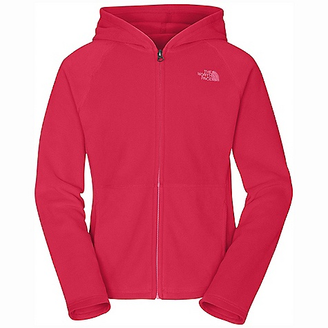 On Sale. The North Face Girls' Glacier Full Zip Hoodie DECENT FEATURES of The North Face Girls' Glacier Full Zip Hoodie Extremely durable, pill-resistant surface Lightweight warmth Rib at cuffs and waistband Contrast-color center front zip on select color ways Kangaroo hand warmer pockets Embroidered logo at left chest Quick-drying Imported The SPECS Average Weight: 9.35 oz / 265 g Center Back Length: 21.5in. 160 g/m2 Polar Tec Classic Micro fleece-100% polyester (blue sign approved fabric) This product can only be shipped within the United States. Please don't hate us. - $30.99