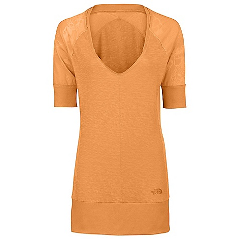 On Sale. Free Shipping. The North Face Women's Tadasana Hybrid Cover Up DECENT FEATURES of The North Face Women's Tadasana Hybrid Cover Up Relaxed fit Longer length Rib cuff at arm and waistband Imported The SPECS Body: 100% pima cotton slub Panel: 50% cotton, 50% polyester, 90% polyester, 10% elastane drop-needle mesh This product can only be shipped within the United States. Please don't hate us. - $32.99